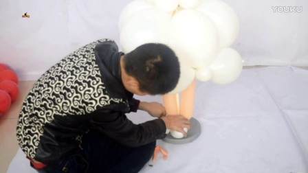 汪洋气球VIP教程,中型西式新娘小女孩教程 完成 魔术气球