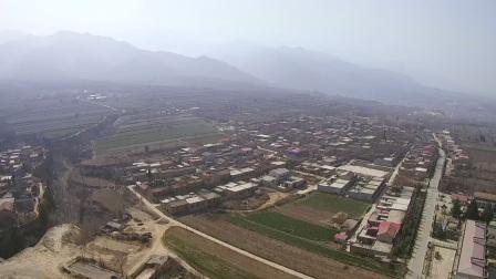 航拍河南省灵宝市上阳寨子村