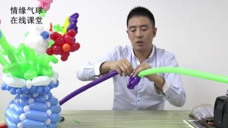 魔术气球编织-简易单*条玫瑰花的制作