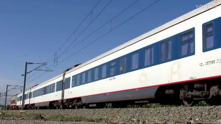兰局迎段SS7C牵引Z180次银川车站发车