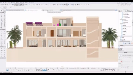 ARCHICAD section or elevation with real materials
