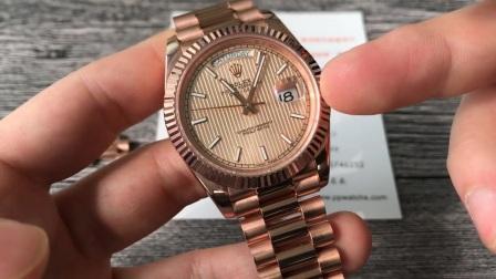 【对比】腕表18K包金效果对比PVD电镀金