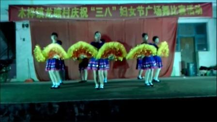 广西贵港市港南区木梓镇龙塘村庆祝三八妇女节广场舞