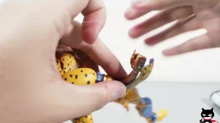 【黑仔玩具分享】TAKARA TOMY MP-34 野兽战争 捷达(黄豹勇士) 粤语国字