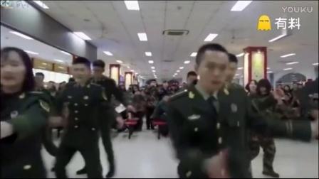 武警学员食堂劲舞,看呆所有人.mp4