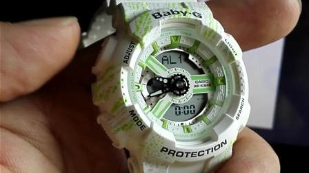 卡西欧 casio Baby-G BA-110手表闹钟的设定方法