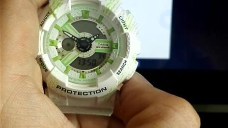 卡西欧 Casio Baby-G 手表BA-110系列基础时间设定