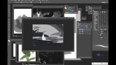 游戏原画CG绘画黑白概念、构图解析——插画、设计、概念