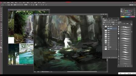 游戏原画CG绘画场景、精灵——插画、设计、概念