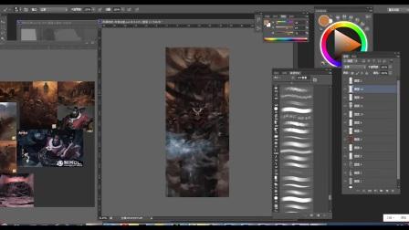 游戏原画CG绘画地狱判官——插画、设计、概念