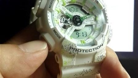 卡西欧G-SHOCK GA-110,GMA-S110系列手表基础时间设定方法