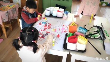 充实快乐的幼儿园日常。