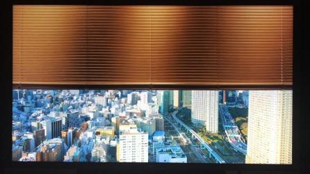 BOE独自企划的8K视频(高精细98寸显示器以出色的接近真实窗外景观的震撼表现力)