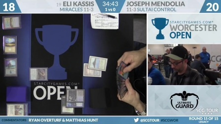 SCGWOR - Round 15b - Eli Kassis vs Joseph Mendolia (Legacy)