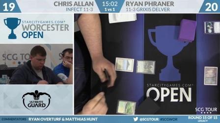 SCGWOR - Round 15c - Chris Allen vs Ryan Phraner (Legacy)