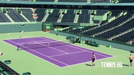2017  穆雷 迈阿密网球公开赛  赛前练习 自制