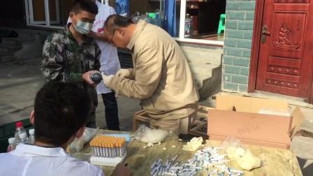 农业部专家刘月焕亲临健翔云天赛鸽公棚防疫指导视频1