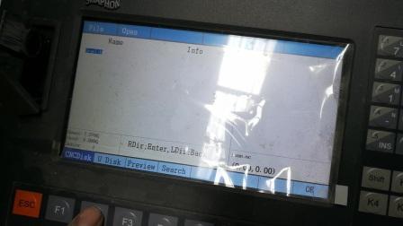 Plasma cutting machine U disk operation