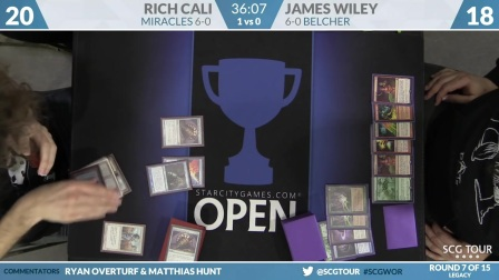 SCGWOR - Round 7 - Rich Cali vs James Wiley (Legacy)