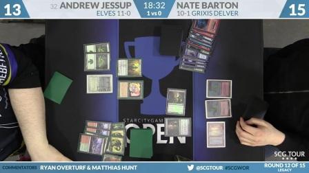 SCGWOR - Round 12 - Andrew Jessup vs Nate Barton (Legacy)