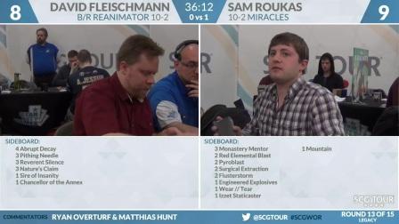 SCGWOR - Round 13 - David Fleischaman vs Sam Roukas (Legacy)