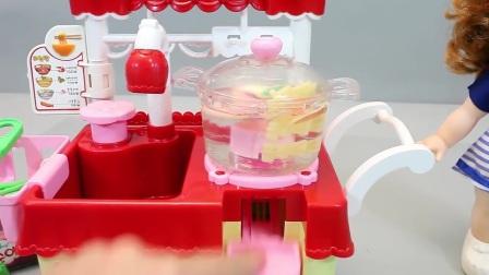 拉面烹饪面厨房娃娃玩具玩玩具惊喜蛋
