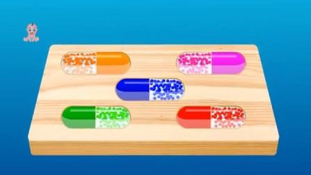 惊喜蛋为了孩子们的学习颜色而存在