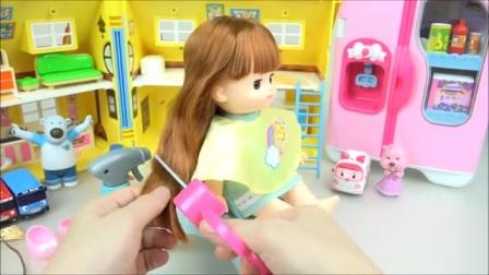 娃娃的漂亮的头发玩具,好玩