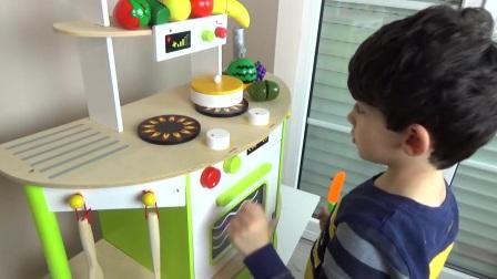 学习水果和蔬菜给孩子,蹒跚学步的孩子和婴儿用魔术贴玩具给孩子们