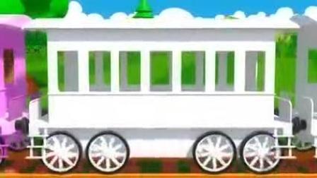 快乐的小火车在轨道行驶