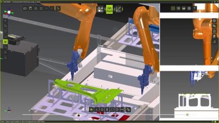 双机器人激光切割 FASTSUITE数字工厂软件