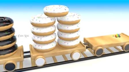 木质板上的甜甜圈