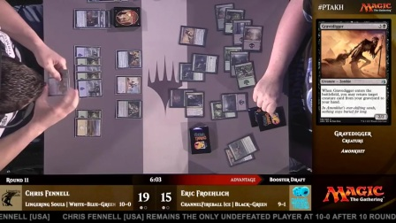 Pro Tour Amonkhet Round 11 (Draft) - Chris Fennell vs. Eric Froehlich