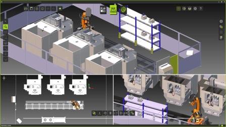 机器人操作 FASTSUITE 数字化工厂软件