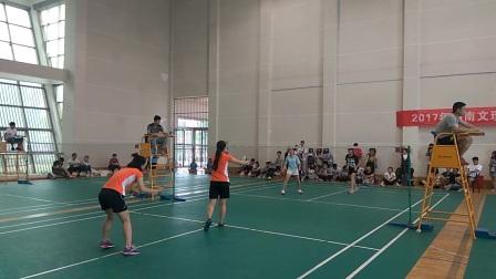 【资旅女子羽毛球冠军之路】湖南文理学院羽毛球联赛女双半决赛--资旅VS法学第二场