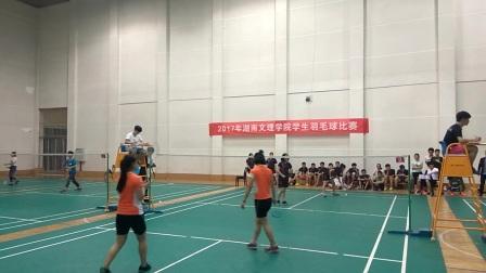 【资旅女子羽毛球冠军之路】湖南文理学院羽毛球联赛女双决赛--资旅VS经管第一场