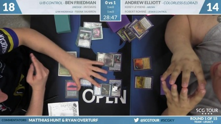 SCGKY - Round 1 - Friedman, Davis, Skarren vs Elliot, Romine, Leydens