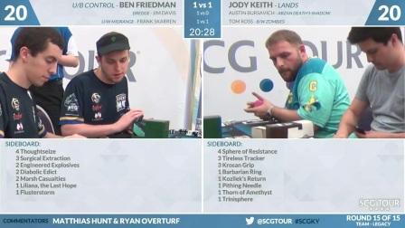 SCGKY - Round 15 - Friedman, Davis, Skarren vs Keith, Bursavich, Ross