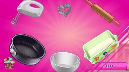 孩子们学习厨房用具,为孩子们玩有趣的烹饪游戏