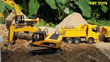 挖沙的挖掘机,了不起的车