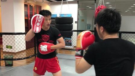 康美雀散打手靶专业虎跃堂搏击俱乐部合作