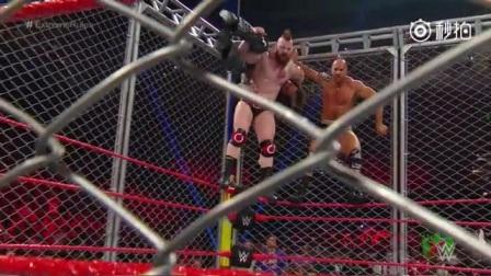 组合冠军铁笼赛 首先双双逃离铁笼获胜 - WWE摔跤娱乐