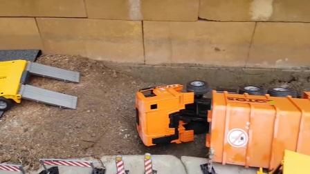 布鲁德玩具建筑工地救援任务!
