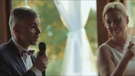 Emotional wedding video with speeches in European rustic style | Marry Me Studio