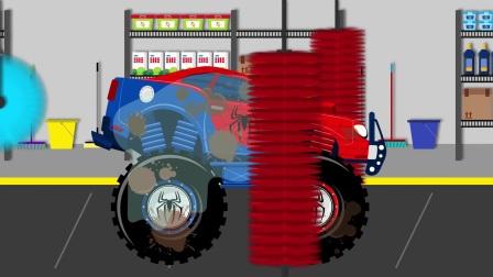 红牛怪兽卡车动画视频儿童编录
