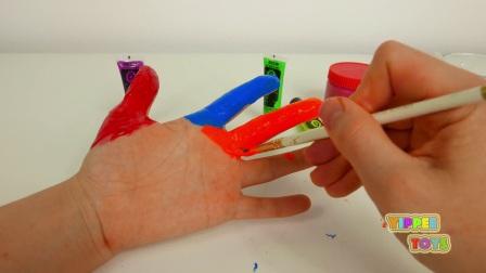 为孩子们学习彩色的身体彩绘