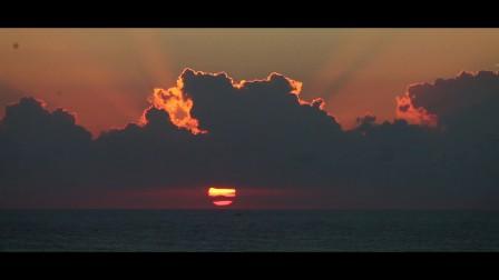 日出航拍 悉尼邦迪海滩