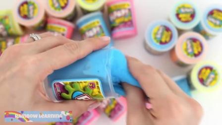 玩Doh闪闪发光的婴儿奶瓶,欢乐的玩耍