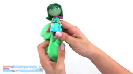 孩子玩粘液学习颜色,趣味的惊喜的玩具
