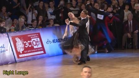 慢动作演示 迪马摩登舞华尔兹右剑步-Dmitriy Zharkov & Olga Kulikova